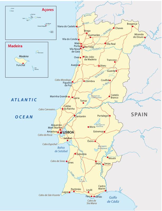 Kaart Van Portugal Authentic Portugal